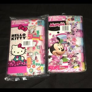 Hello kitty and Minnie mouse 2PK toddler panties